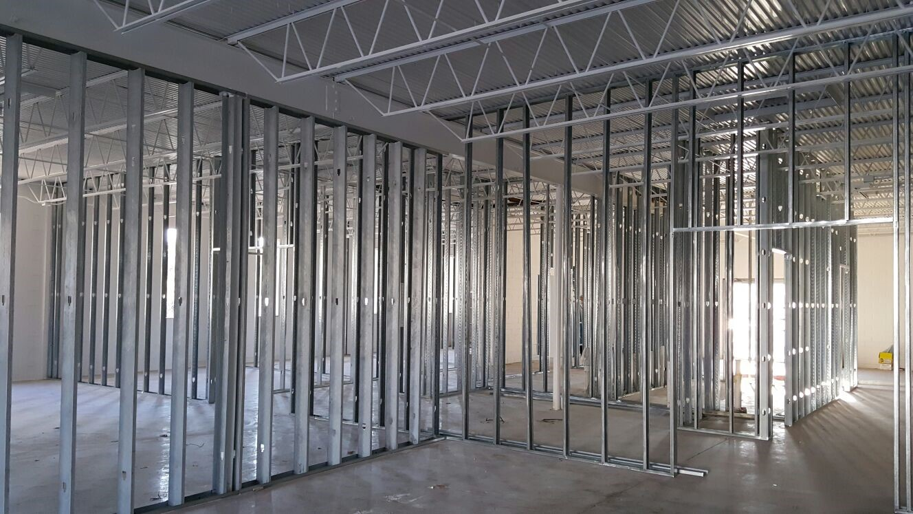 Commercial Interior Metal Framing The Attic Heroes San